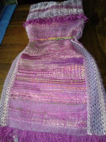 Le TISSAGE : 4ème Robe en LAINE avec partie au Crochet  Img_2269