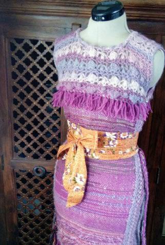 Le TISSAGE : 4ème Robe en LAINE avec partie au Crochet  Img_2274