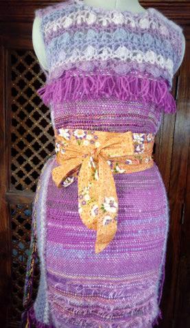 Le TISSAGE : 4ème Robe en LAINE avec partie au Crochet  Img_2275