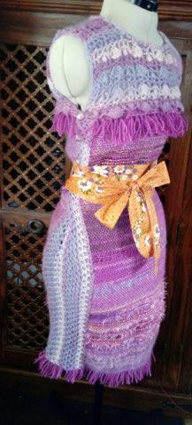 Le TISSAGE : 4ème Robe en LAINE avec partie au Crochet  Img_2276