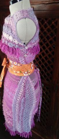 Le TISSAGE : 4ème Robe en LAINE avec partie au Crochet  Img_2282