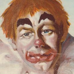 POESIE de Anita   :   Mon Clown , portrait à l'huile sur papier 1986 Photo_11