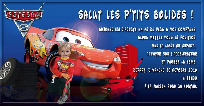 Anniversaire Mathys 4 ans cars Sans_t10