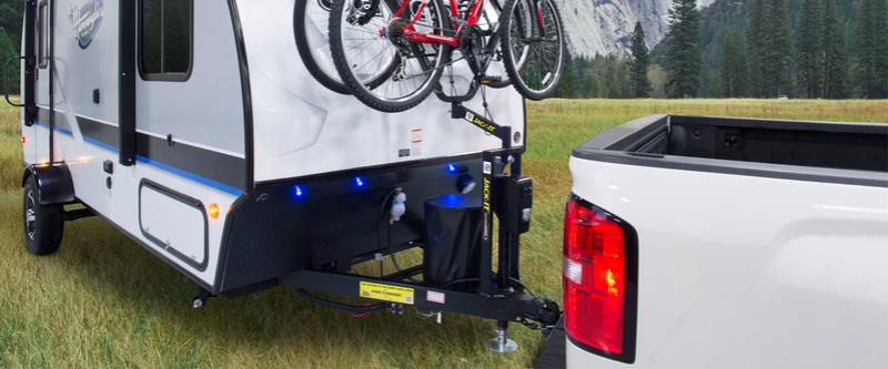 Support de vélo sur vérin Lippert Jack_i10