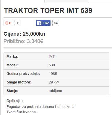 Traktor IMT 534 Toper Toper10