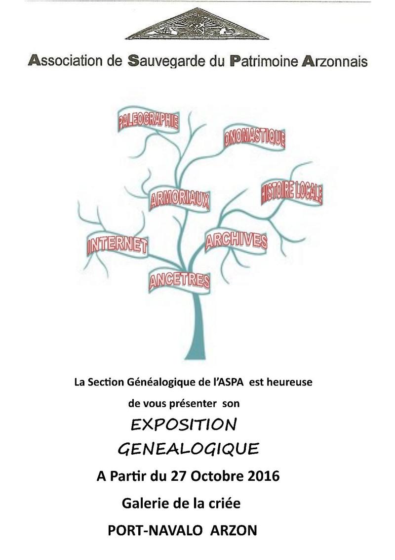 Exposition Généalogie à la Criée de Port Navalo Affich10