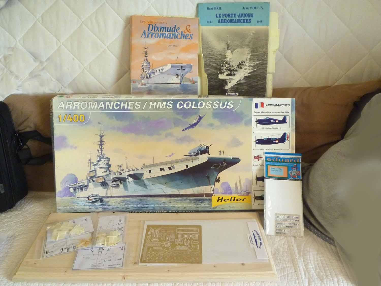 Porte-avions Arromanches Indochine 1954 Heller 1/400 + L'ARSENAL + WEM Arroma10