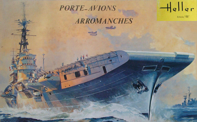 Porte-avions Arromanches Indochine 1954 Heller 1/400 + L'ARSENAL + WEM Arroma15