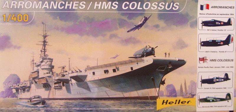 Porte-avions Arromanches Indochine 1954 Heller 1/400 + L'ARSENAL + WEM Arroma16