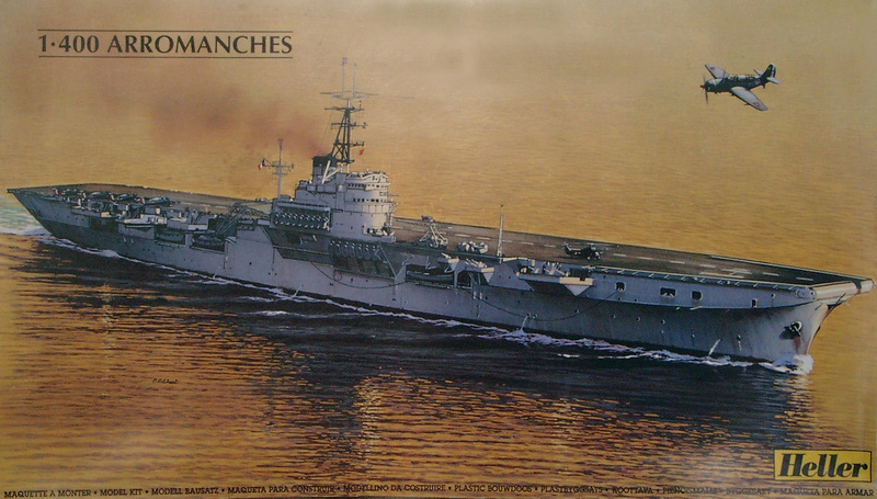 Porte-avions Arromanches Indochine 1954 Heller 1/400 + L'ARSENAL + WEM Arroma17