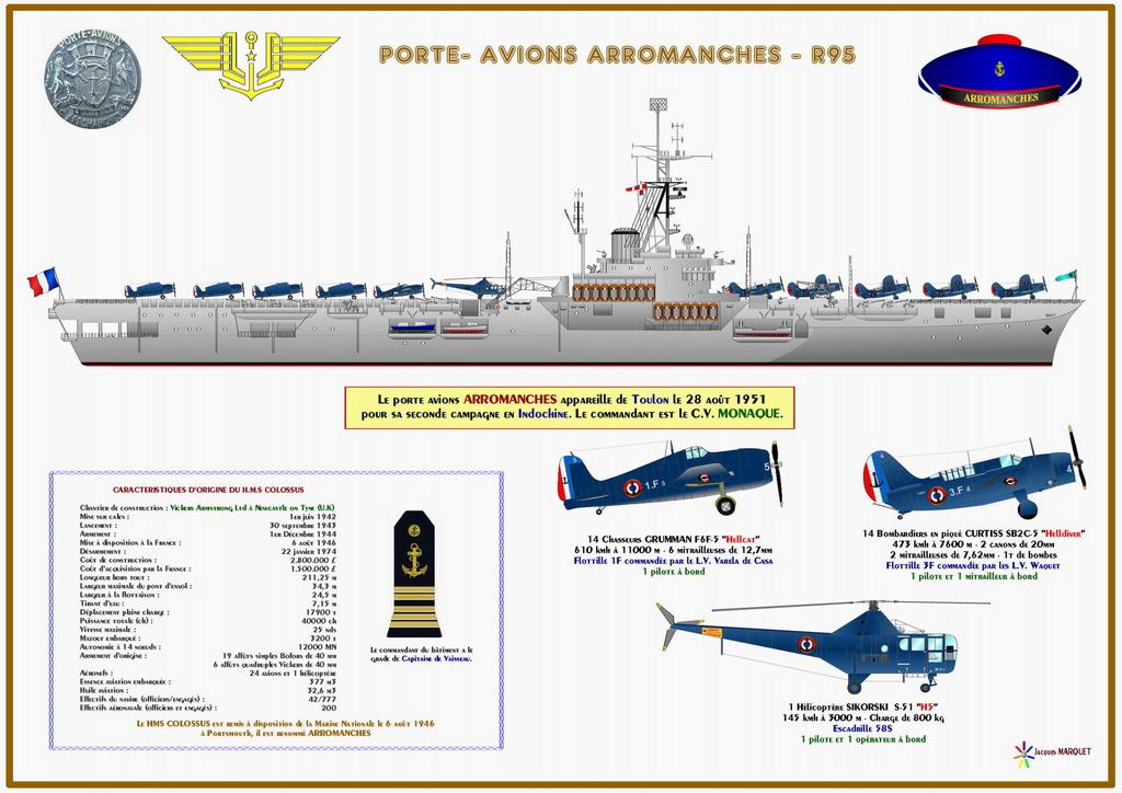 Porte-avions Arromanches Indochine 1954 Heller 1/400 + L'ARSENAL + WEM - Page 2 Arroma28