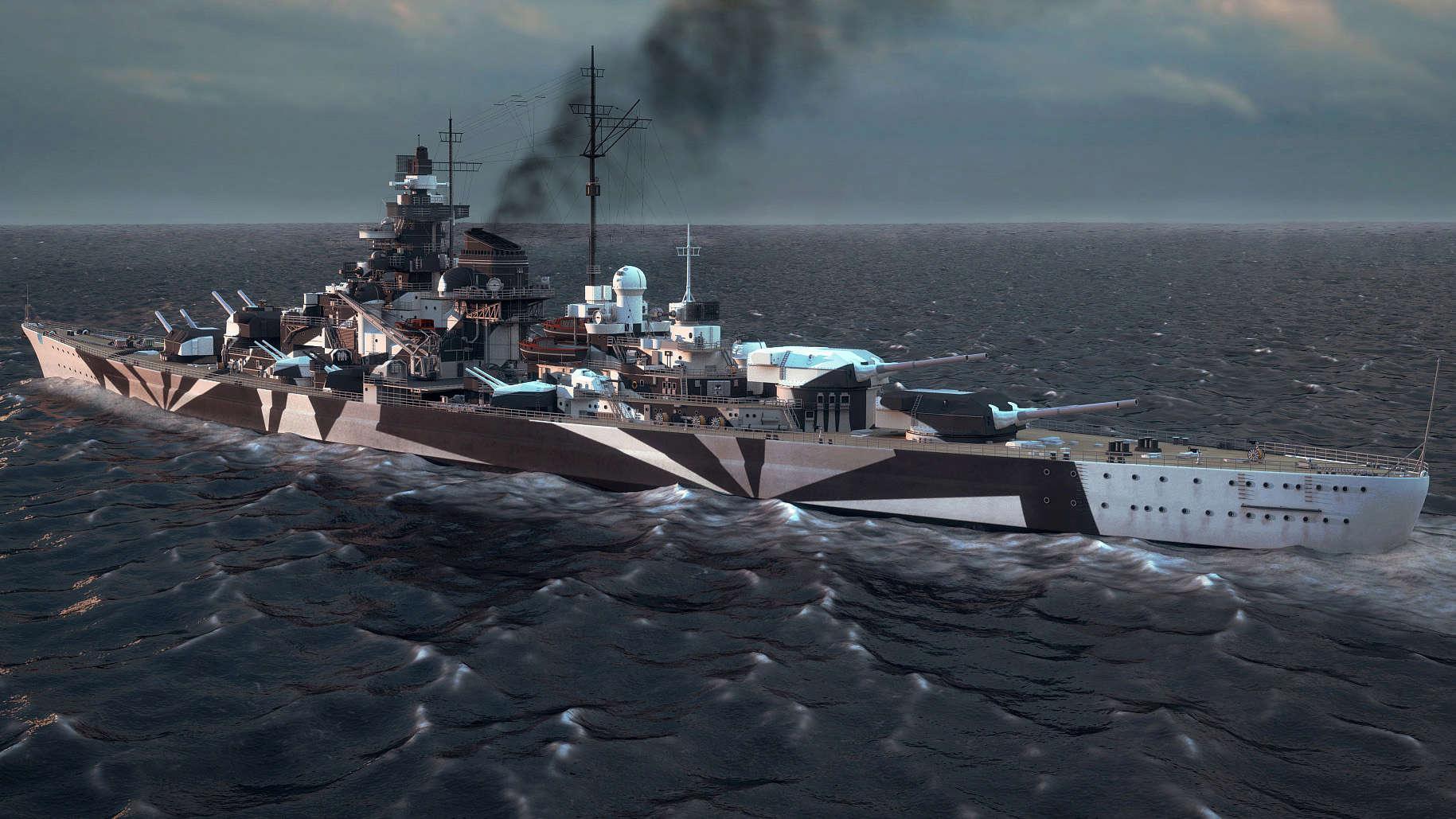 Tirpitz Revell au 1x350 avec PE Tirpit11