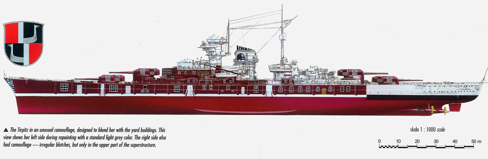 Tirpitz Revell au 1x350 avec PE Tirpit13
