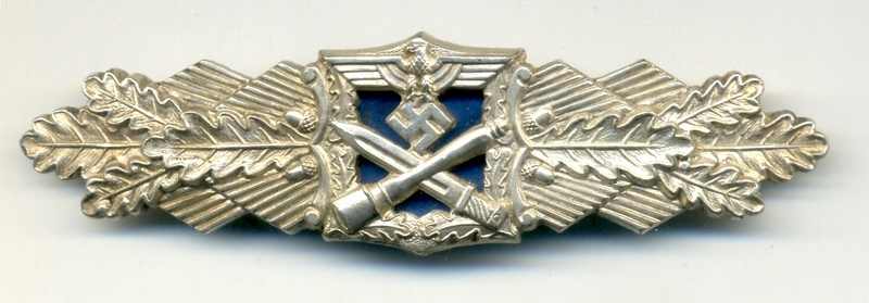 Nahkampfspange silver AGMuK plaque bleue  Img_1065