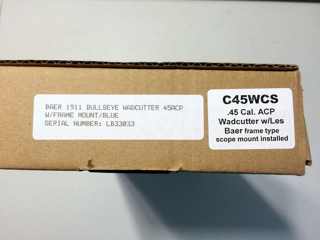 SOLD: Les Baer .45 Wad Gun Kit. Box_la13