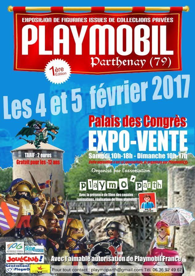 Salon/exposition playmobil à Parthenay (79) 4 & 5 fevrier 2017 Playmo10