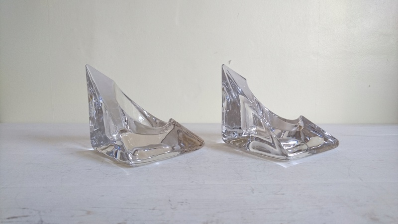 Chunky Crystal Triangular Candle Holders.  Dsc_0011