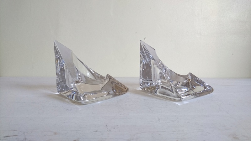 Chunky Crystal Triangular Candle Holders.  Dsc_0013