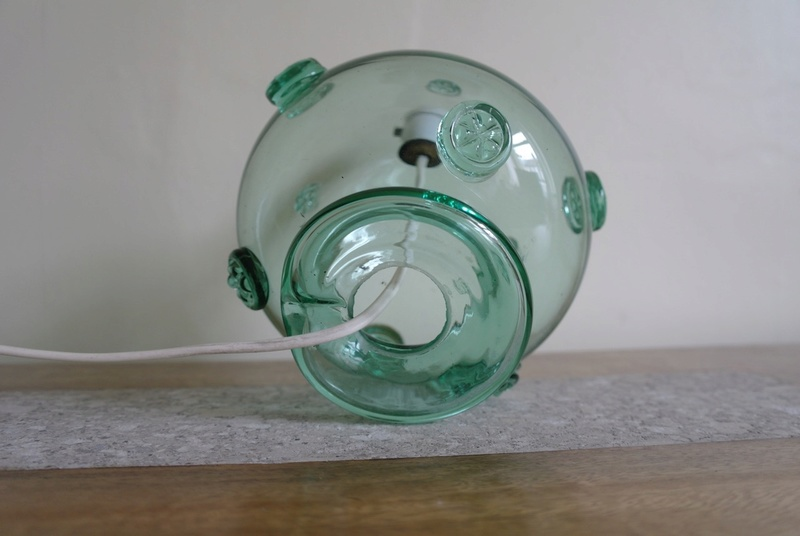Glass Lamp Base with Cartwheel Design  Sam_2111