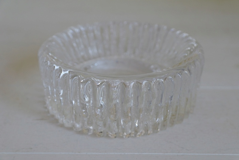 Ribbed Glass Ashtray - Bowl Dish, Chunky? Sam_2410