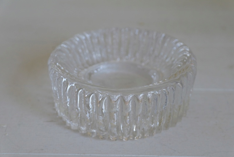 Ribbed Glass Ashtray - Bowl Dish, Chunky? Sam_2411