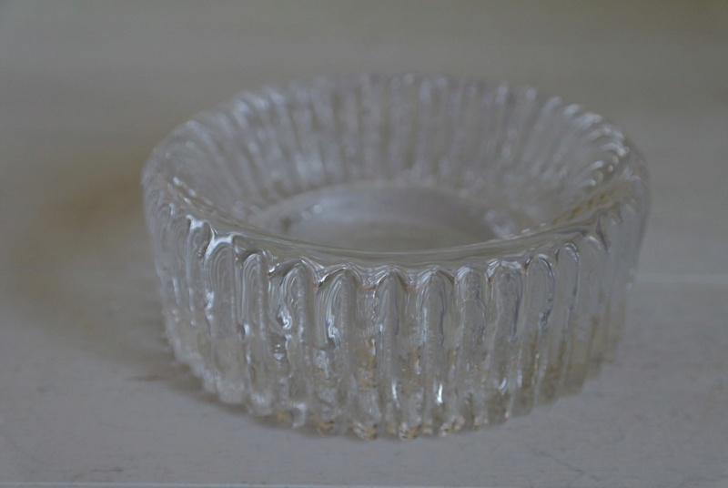 Ribbed Glass Ashtray - Bowl Dish, Chunky? Sam_2412