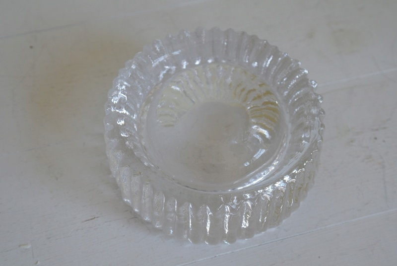 Ribbed Glass Ashtray - Bowl Dish, Chunky? Sam_2414