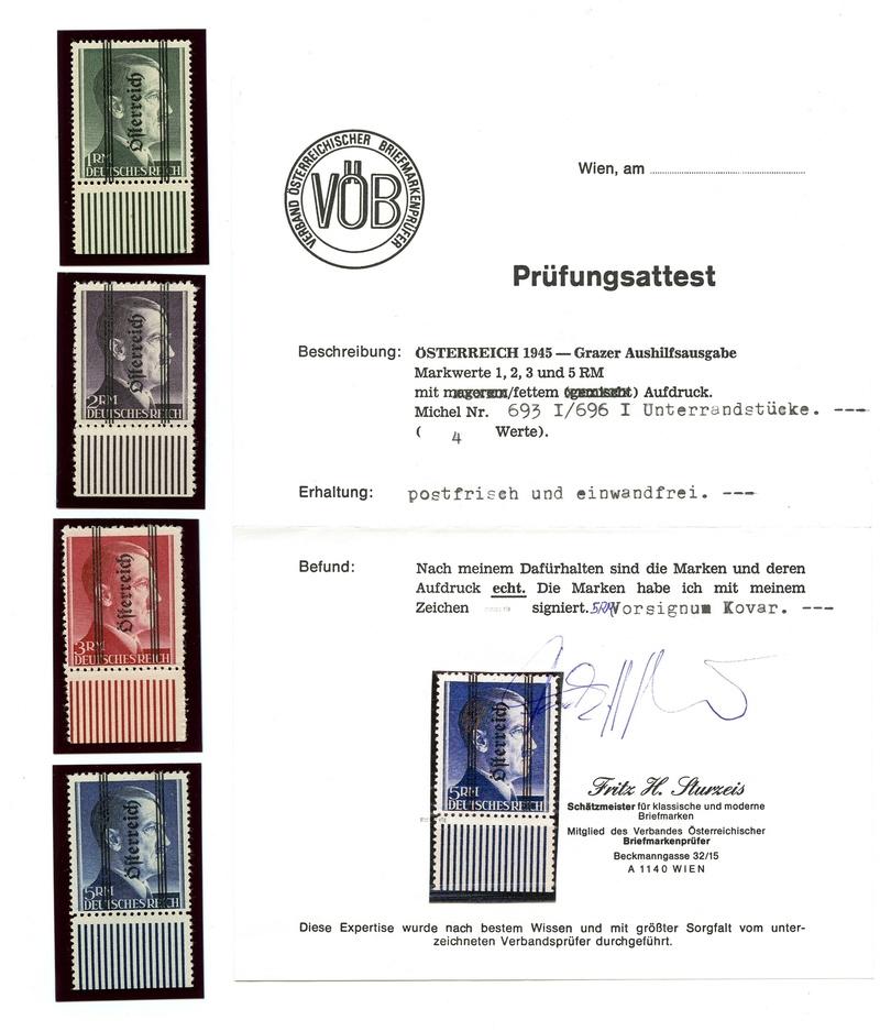 1945 - Grazer Aushilfsausgabe Mai 1945 Attest11