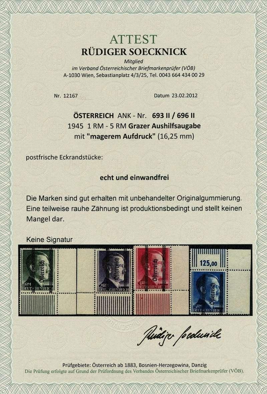 1945 - Grazer Aushilfsausgabe Mai 1945 Attest12