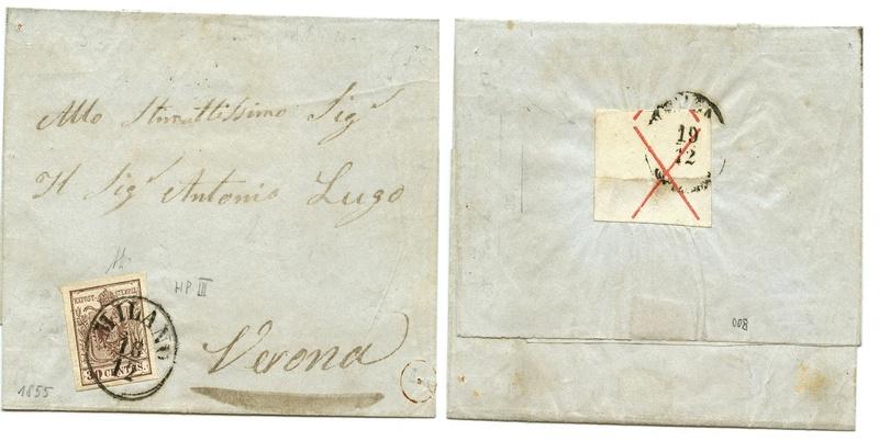 Briefmarken - Lombardei - Venetien 1850 - 1858 - Seite 5 Gesamt10