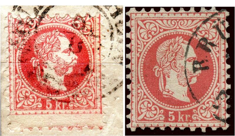 Freimarken-Ausgabe 1867 : Kopfbildnis Kaiser Franz Joseph I - Seite 16 Vergle10