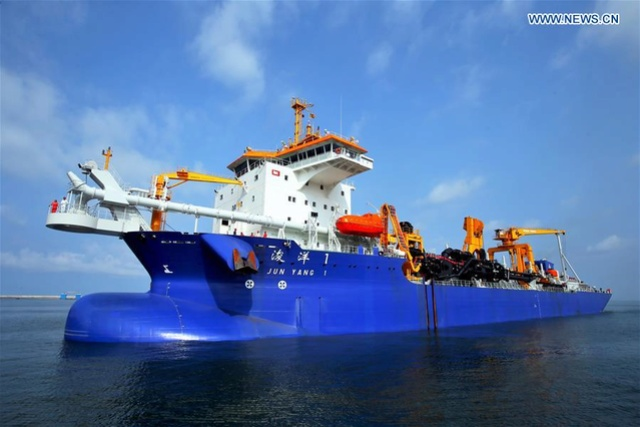 Asia's largest trailing suction hopper dredger arrives in Colombo 13578910