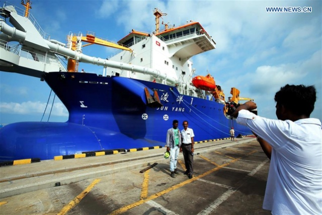 Asia's largest trailing suction hopper dredger arrives in Colombo 13578912