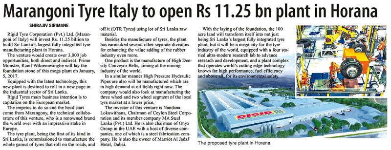Marangoni Tyre in Rs 11.5Bn investment Pg37_711