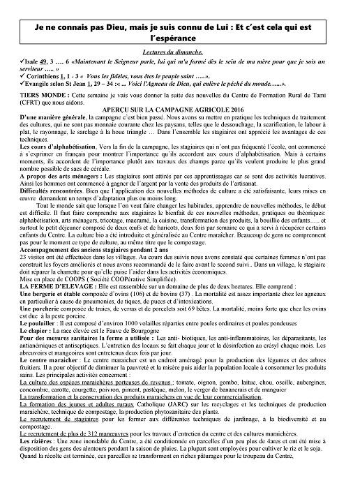 Trait d'Union du 15 janvier 2017 Tu170115