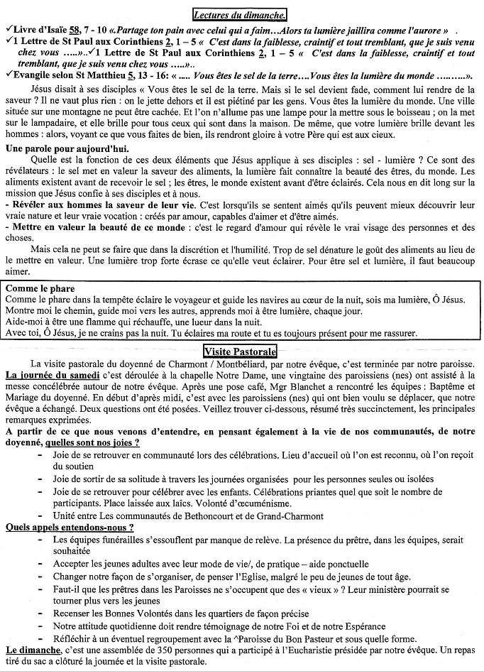 Trait d'union du 5 février 2017 Tu170212