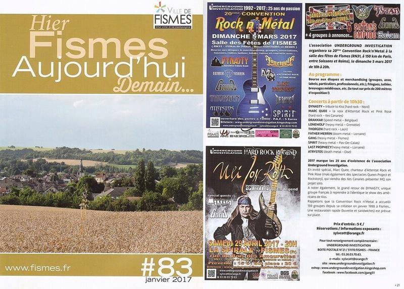 Le fanzine UNDERGROUND INVESTIGATION 16143210