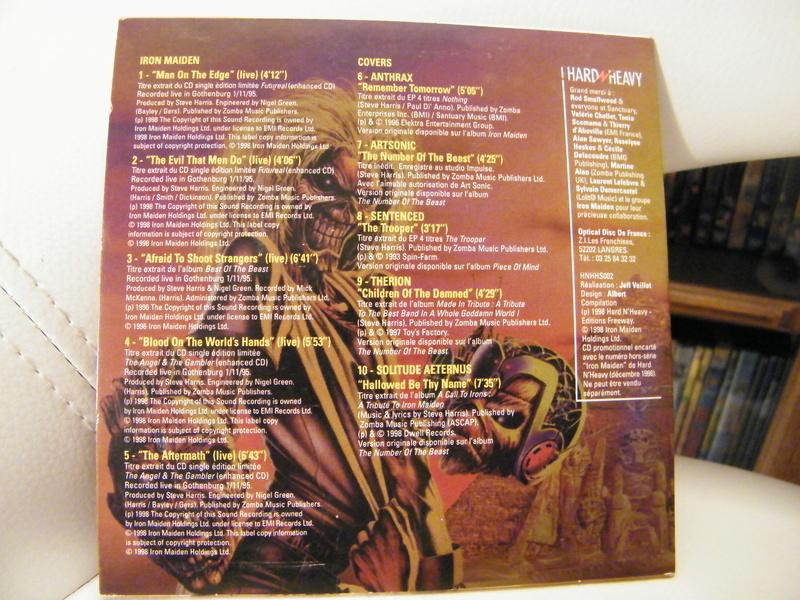 "sampler hors-serie ""hard/heavy""déc 1998 spécial iron maiden Dscf5217"