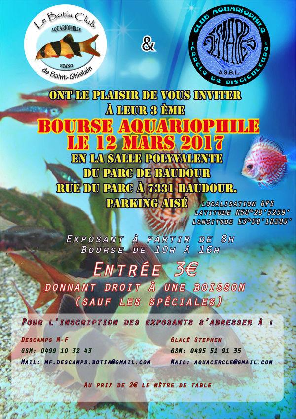 2017-03-12 [Belgique|Hainaut] 3ème bourse aquariophile du Botia Club et du Cercle de Pisciculture à Baudour 2017-011