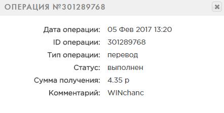 WINchanc - 10% за 24 часа к депозиту. Отзывы Win10