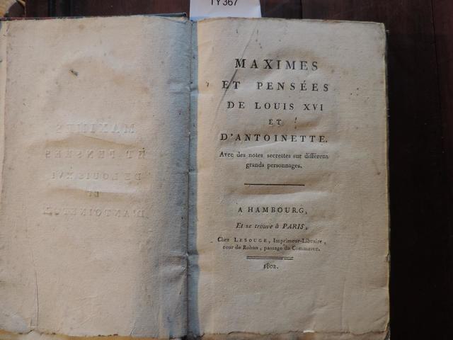 A vendre: livres sur Marie-Antoinette, ses proches et la Révolution - Page 5 17075210