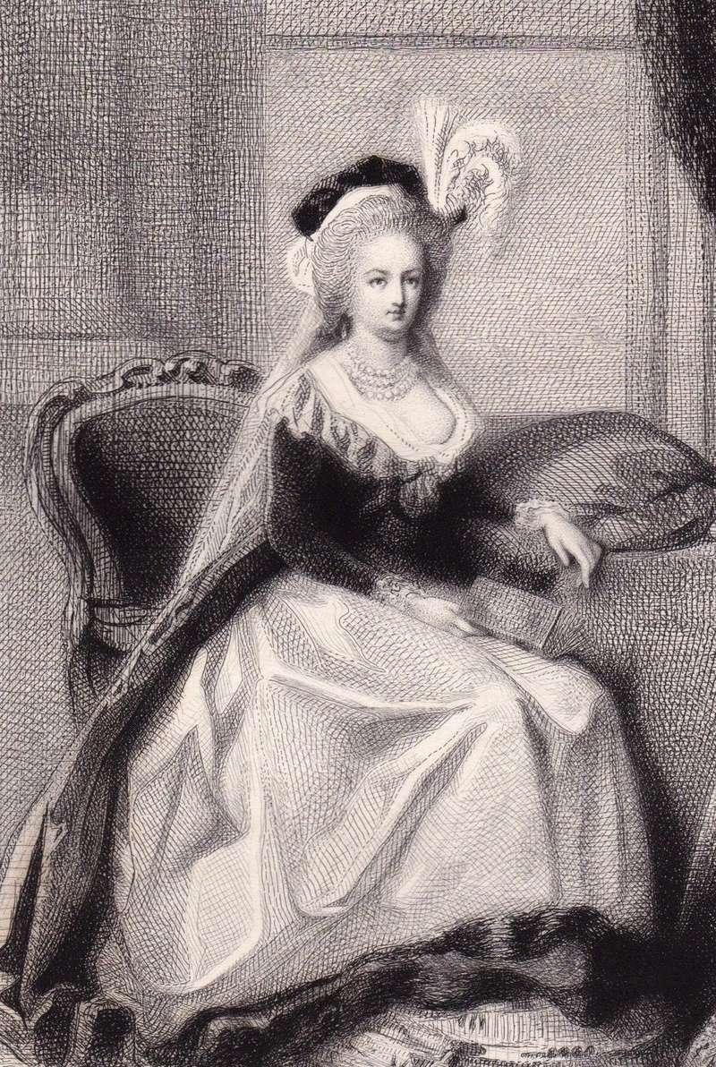 Marie-Antoinette au livre en robe bleue - Page 2 _5716