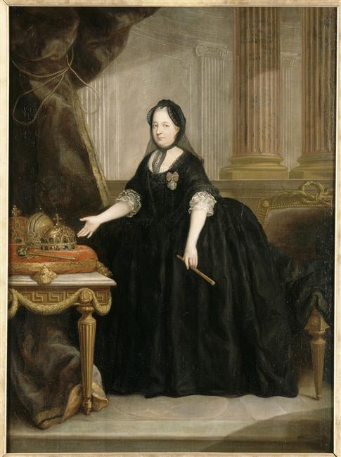 Vêtements de deuil au XVIIIe Marie110