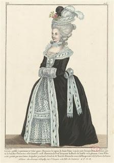 Vêtements de deuil au XVIIIe Mourni10
