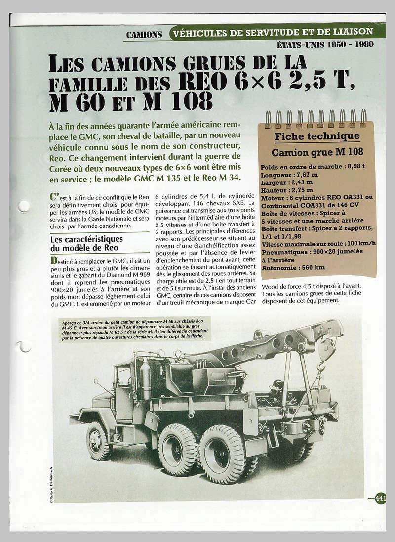 CAMION GRUE REO 6X6 2.5 TONNES M60, M108 T2ec1610