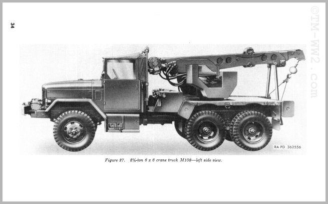 CAMION GRUE REO 6X6 2.5 TONNES M60, M108 Tm9-8010