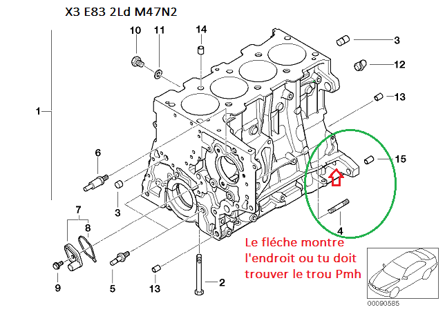 [ Bmw X3 E83 2.0 D M47N2 an 2004 ] Calage distribution - Page 2 11_blo10