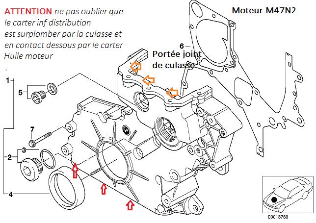 [ Bmw X3 E83 2.0 D M47N2 an 2004 ] Calage distribution 11_car10