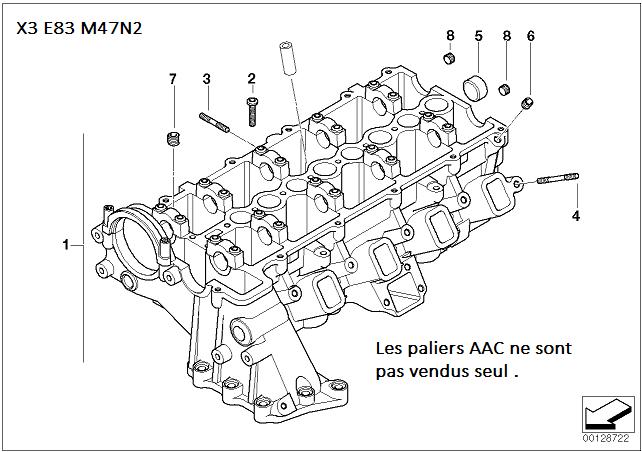 [ Bmw X3 E83 2.0 D M47N2 an 2004 ] Calage distribution 11_m4710
