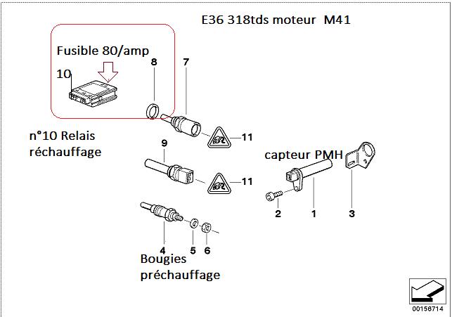 [ BMW E36 318 tds M41 an 1995 ] Démarre mais cale aussitot 12_e3610